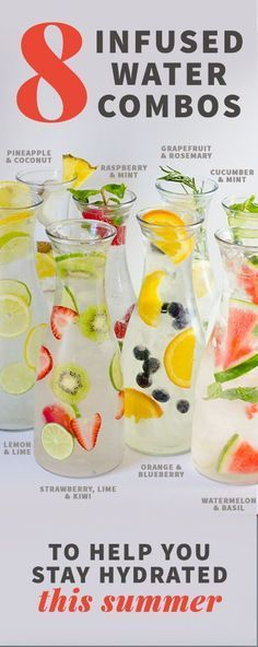 Infused water recipes- Here are some suggestions for making some very healthy and delicious infused