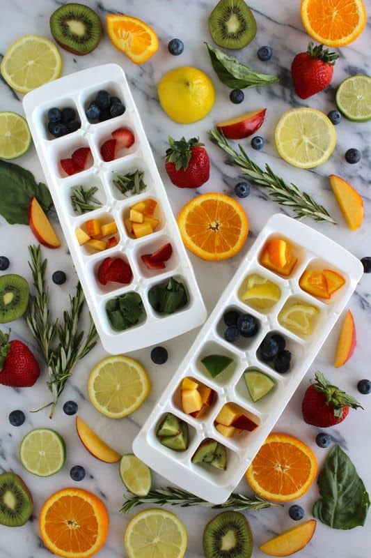 Fruit Infused ice Cubes- Refreshing, healthy and delicious