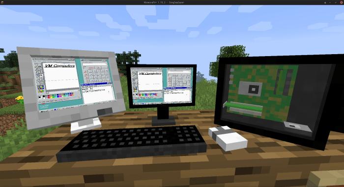 Jogue Minecraft em um PC (totalmente funcional) dentro de Minecraft com este mod!