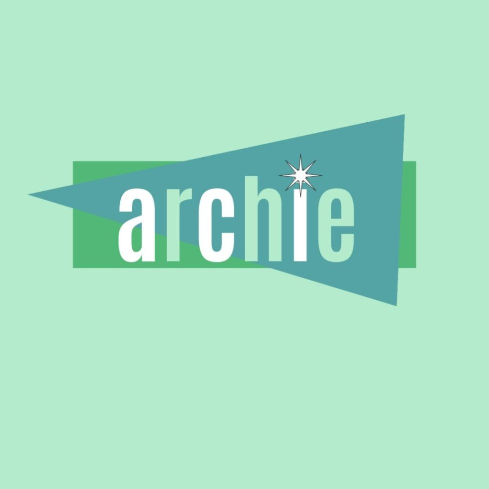 archie in retro lettering as a human name for dogs