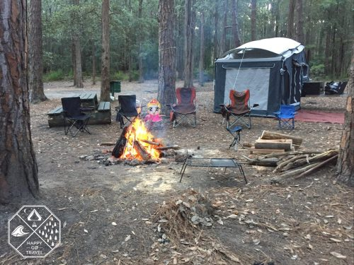 Black Series Alpha Camper trailer- Camping Watagans National Park - The Pines Campground