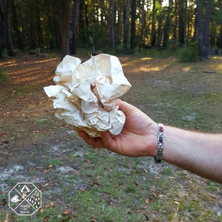 How to build a campfire | scrunching paper for campfire