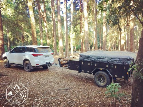 Black Series Alpha Camper trailer- Toyota Fortuner - Camping Watagans National Park