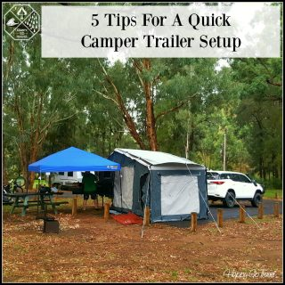 Black Series camper trailer setup at Warrumbungles National Park