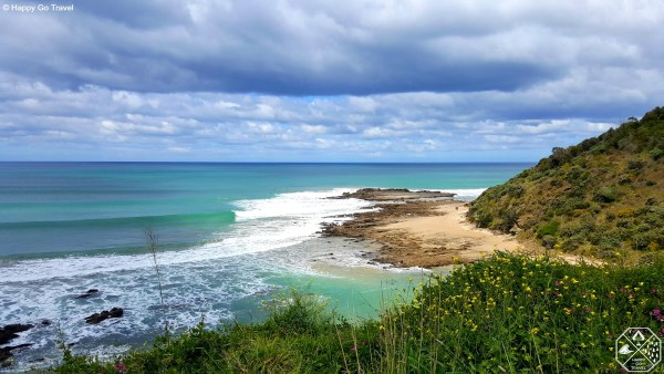 View of beach from Great Ocean Road