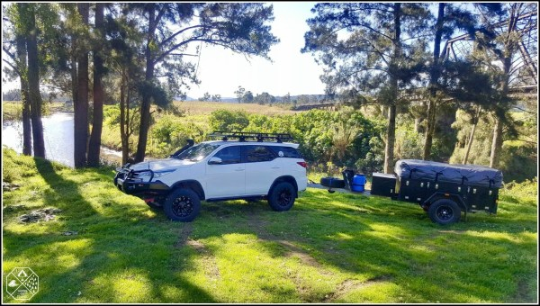 Toyota Fortuner - Towing a Black Series Alpha Camper Trailer