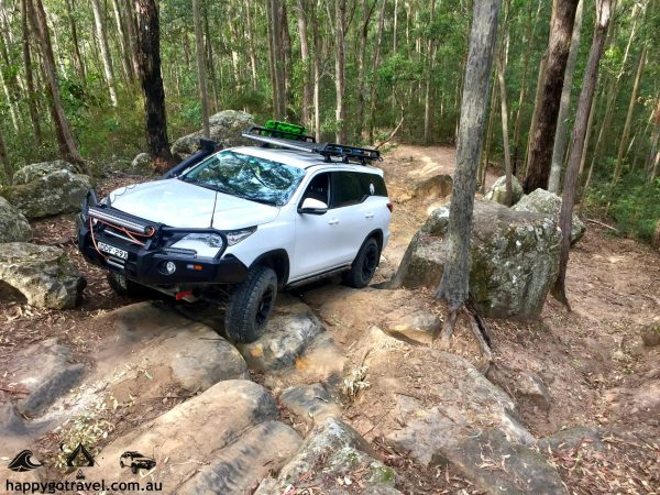 Toyota Fortuner Whitemans Lane Watagans 4wd tracks