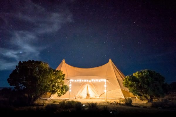 luxury camping glamping tent