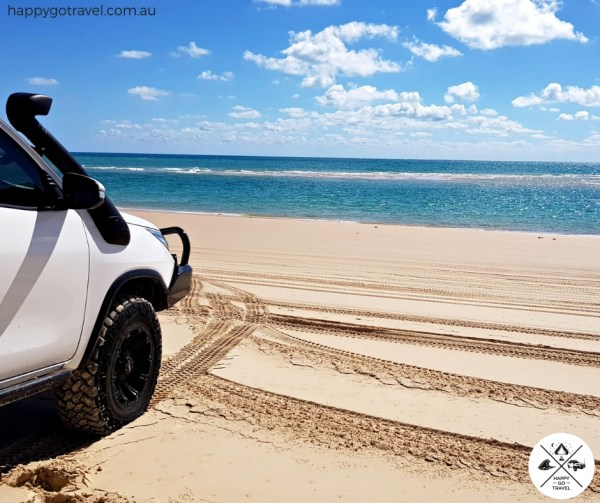 4wd on Fraser Island beach