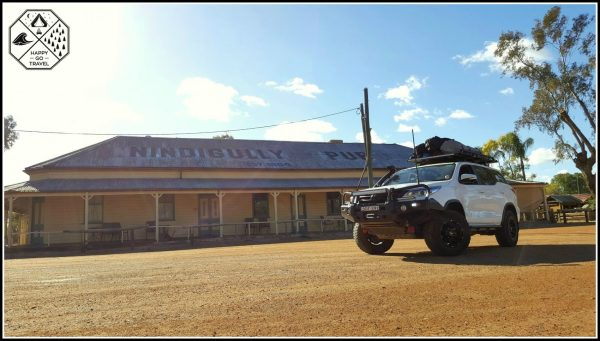 Nindigully Pub with 4x4 touring parked out front