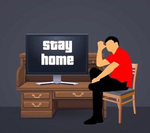 fique em casa
