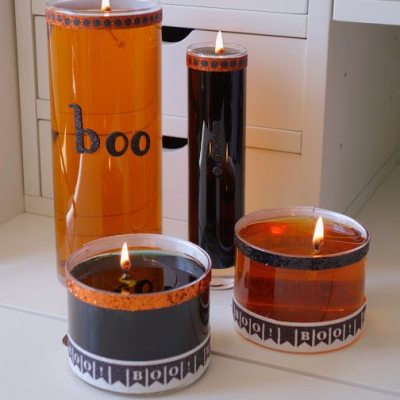 Homemade Halloween Water Candles