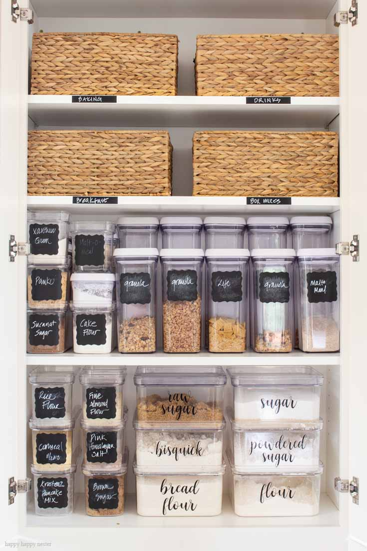 This is the best post about organizing with Container Store Products makes a kitchen system is easy and great. Their clear stackable containers are the best for space and efficiency. This system is super and usable and your kitchen will be organized quite easily. Storage | Organizing | The Container Store | Organizing System | Kitchen Organizing