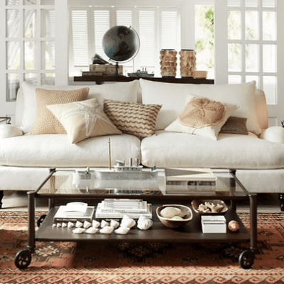 White Slipcover Sofa choices: Ikea, Pottery Barn, Ethan and Allen, and Crate and Barrel