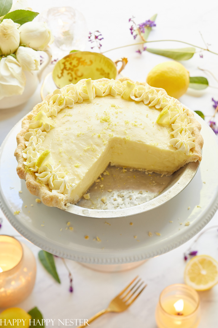 Easter Lemon sour cream pie