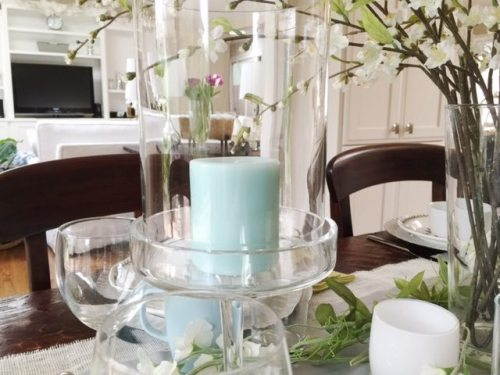 Decorating with candles for spring
