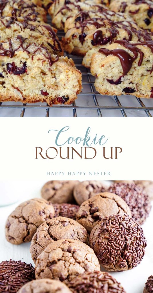 Cookie Roundup for your fall baking. Soft Chewy Ginger Molasses cookies, Cranberry Almond Biscotti to name a few. Try these great recipes from my friends.
