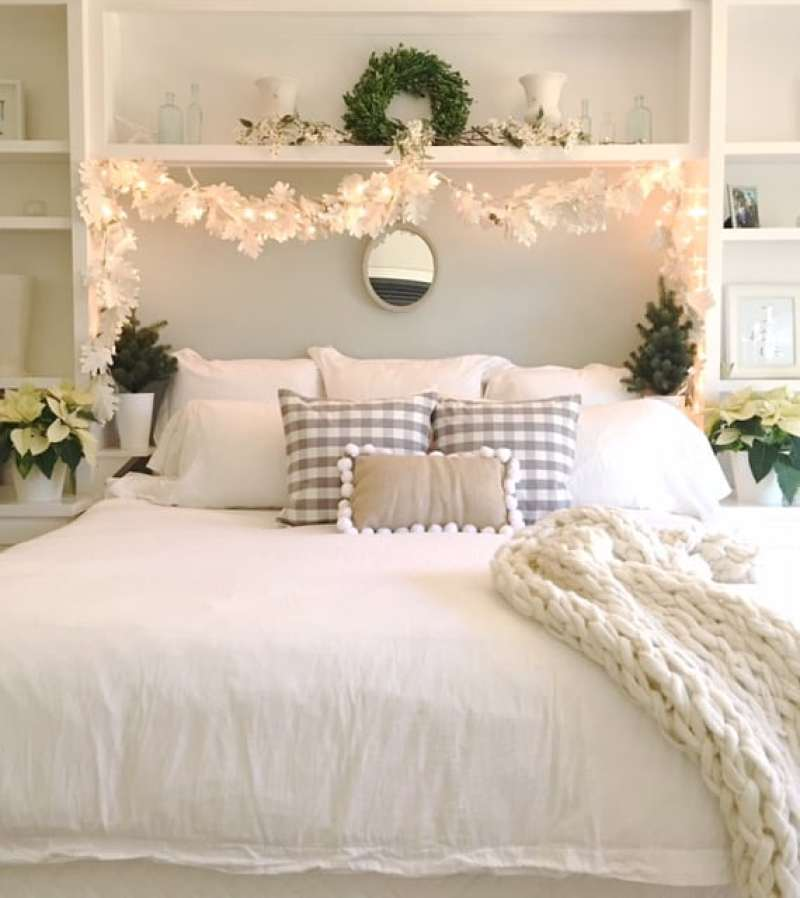 winter wonderland holiday bedroom