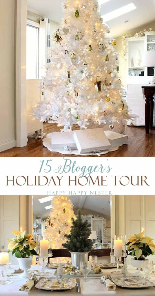 15 Blogger's show off their lovely holiday home for this ultimate blog tour. My home this year is all about a White Christmas. My decor is light and cozy.
