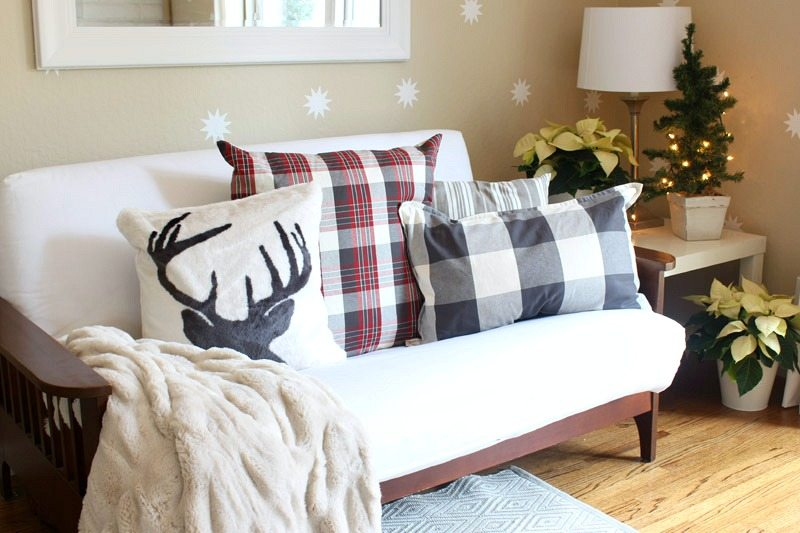 buffalo check Pottery Barn pillow