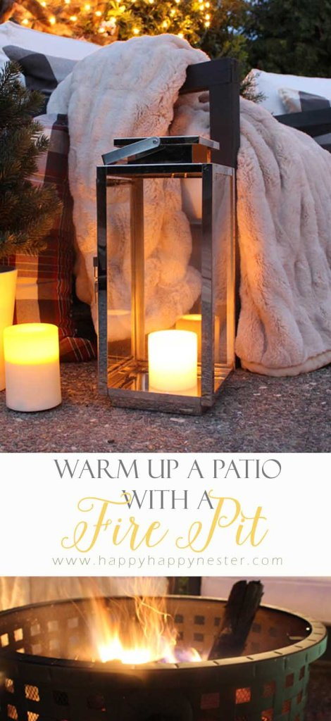 An easy way to warm a outdoor patio is to use a fire pit. This Landmann fire pit is awesome and constructed so well.