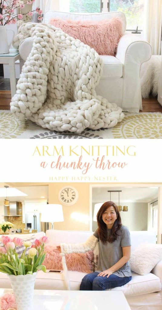 Arm knit this chunky throw. Answers to the frequently asked questions to arm knitting. You can be knitting within minutes with the resources I provide.Arm knit a chunky throw in about 90 minutes. All you need is yarn and your arms and you can make this beautiful 100% wool blanket. Arm Knit | Knitting | Blanket | Knitting Tutorial | Arm Knit DIY | Knitting DIY | Crafts | Hobbies | Wool Blanket | Chunky Wool Blanket | Wool Blanket DIY | How To Knit | Learn How To Knit