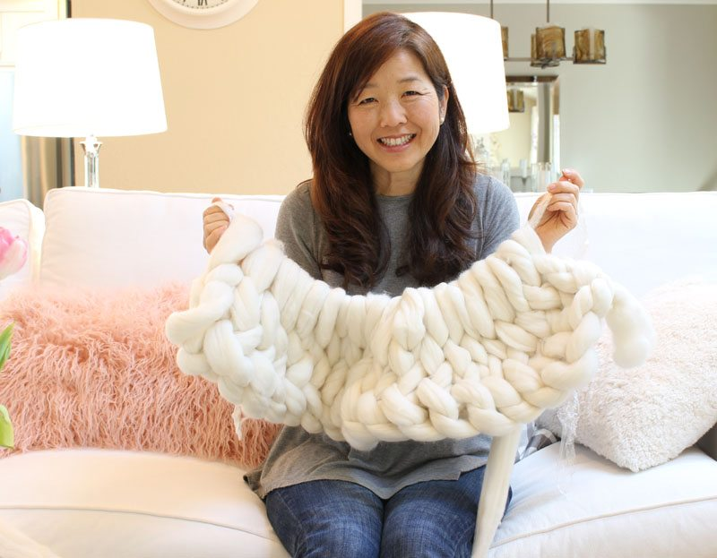 diy arm knitting