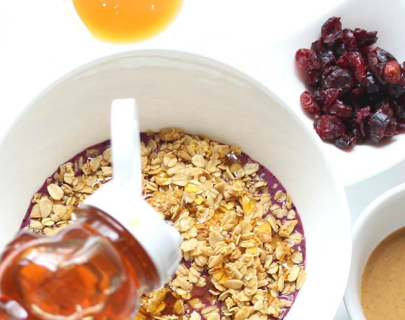 acai bowl with honey