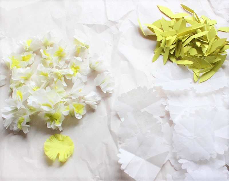 white paper flowers tutorial