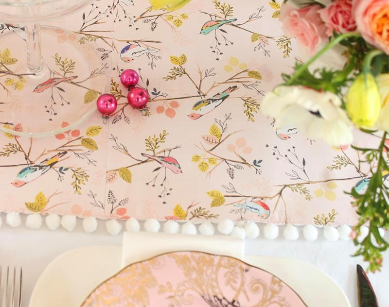 decorating with pink dishes