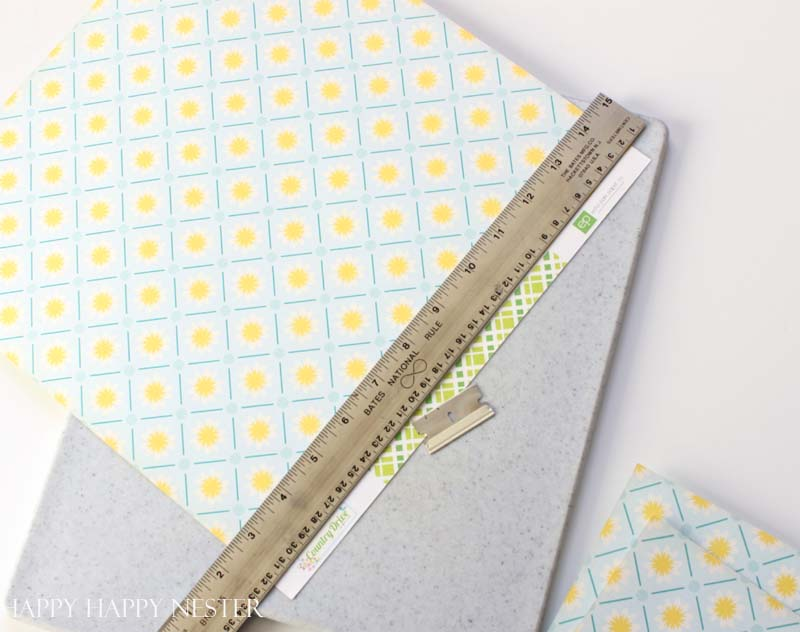 scrapbooking paper table runner