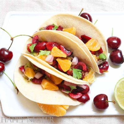 Enjoy this gourmet duck taco recipe from Food Network's, Chef Wanted TV show. This dish combines fresh orange slices, cherries, and duck for a great flavor.