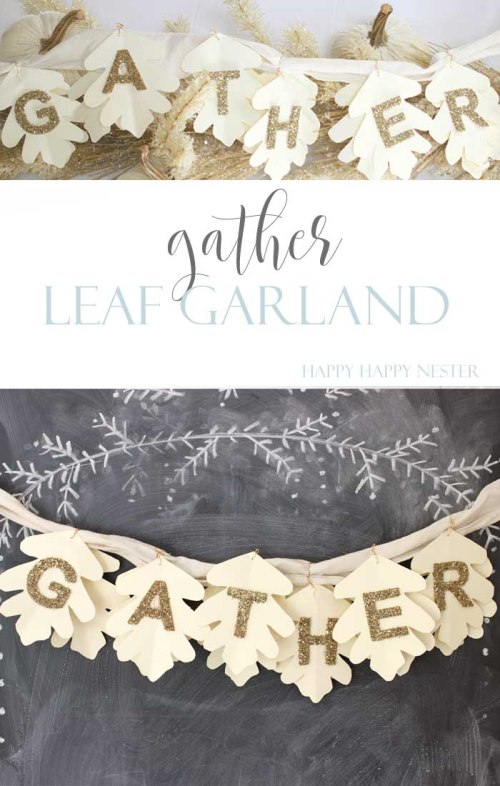 This easy and cute Leaf Garland is pretty to hang anywhere in your home. Make sure to welcome fall in with this great little craft. It creates a cozy home.