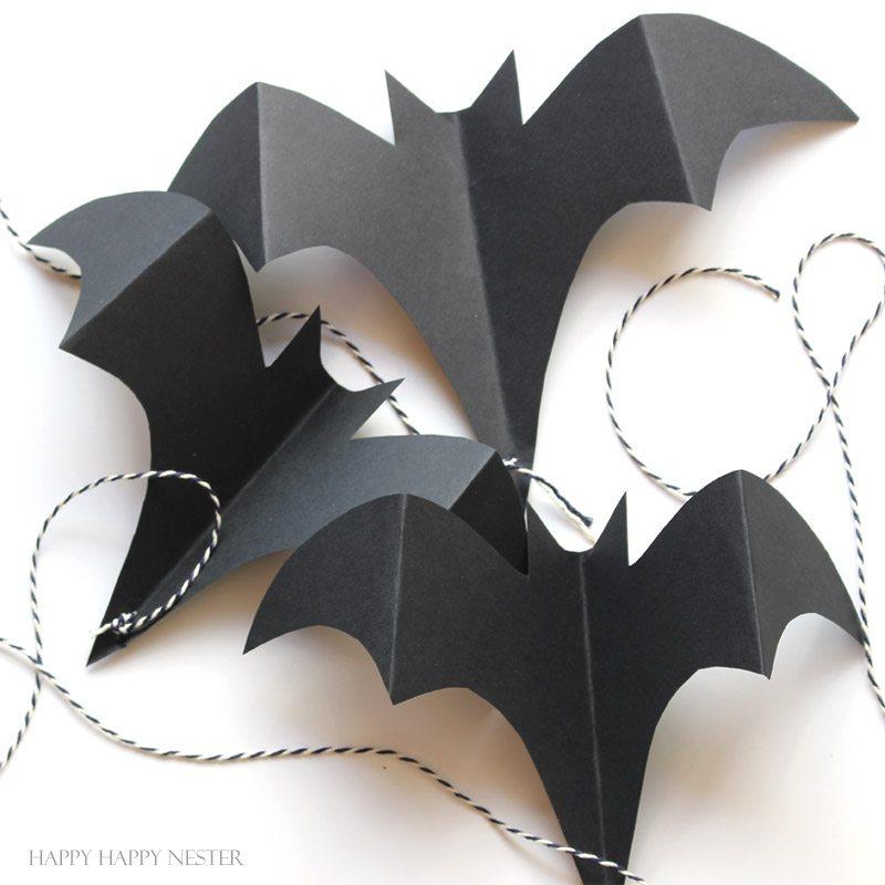 halloween craft paper bats