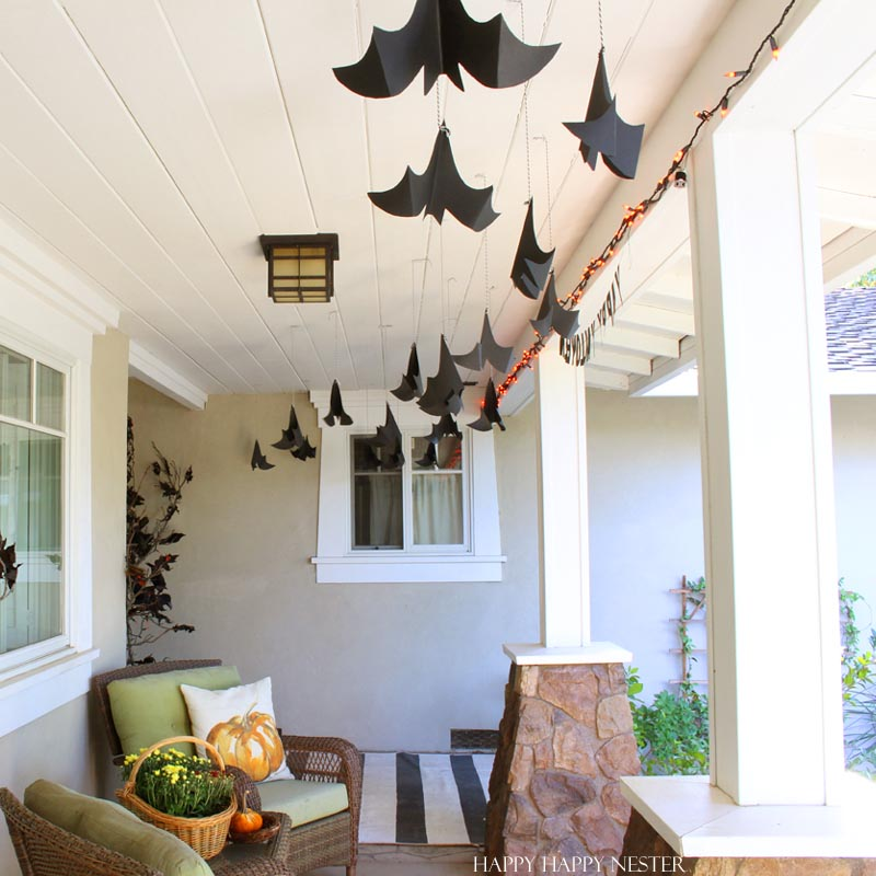 some cool halloween bats for a porch