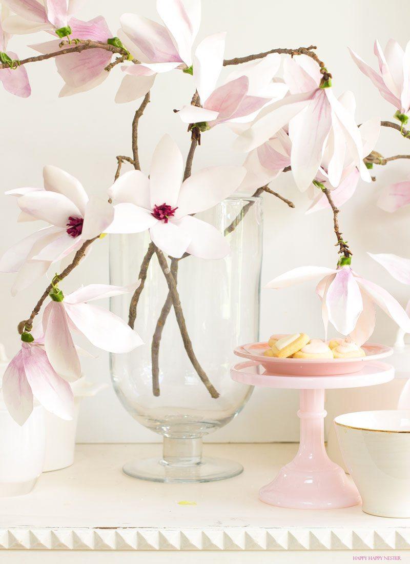 Paper Flower Tutorial Magnolia Flowers Happy Happy Nester