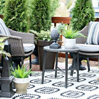 During the winter months, it is a great time to search blogs and Pinterest for outdoor patio ideas. Get a jump start and start planning your outdoor space for the summer. Here is a patio from a Better Homes and Garden blogger that I know you'll love. #outdoorpatioideas #outdoorliving #garden #summerpatio #diy #decorate