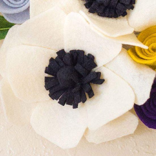 felt flowers craft