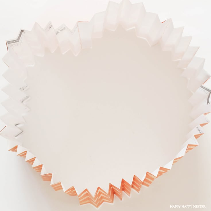 paper folded in a circle