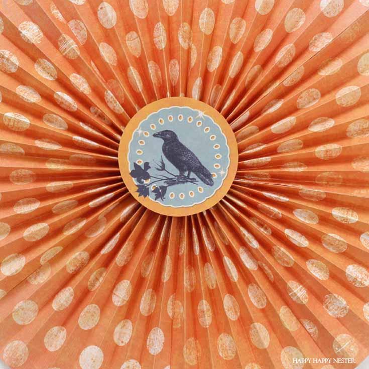 orange paper rosette