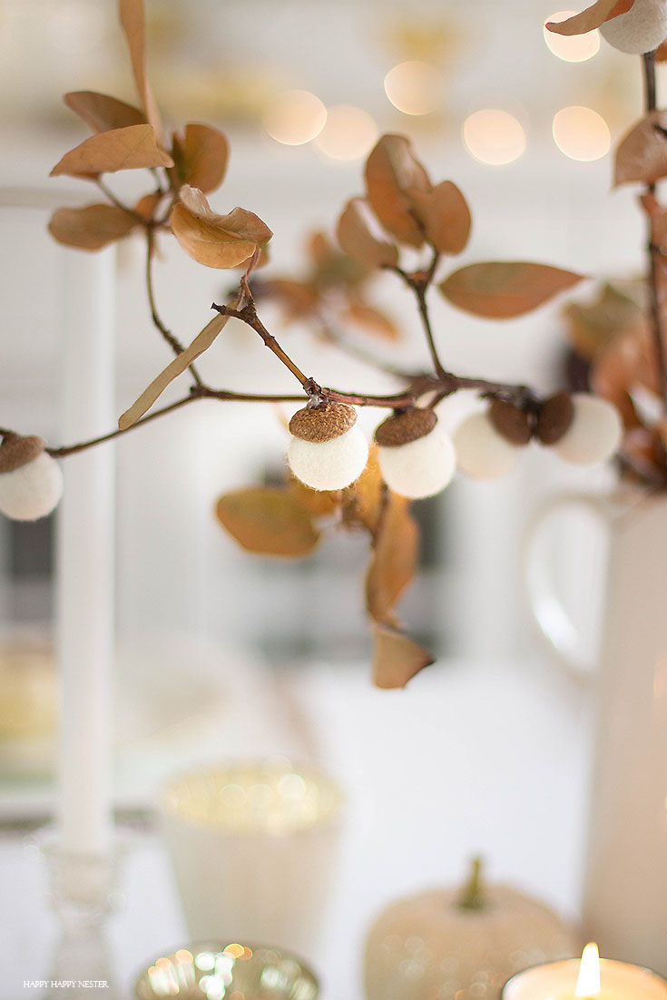 How to Make a Felt Acorn Branch diy