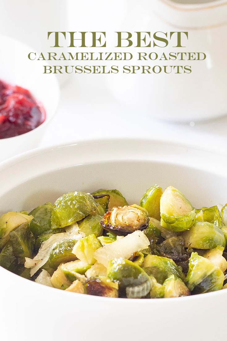 the best caramelized roasted brussels sprouts pin