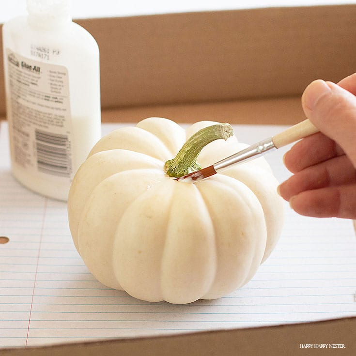 how to make glitter pumpkins with elmers glue
