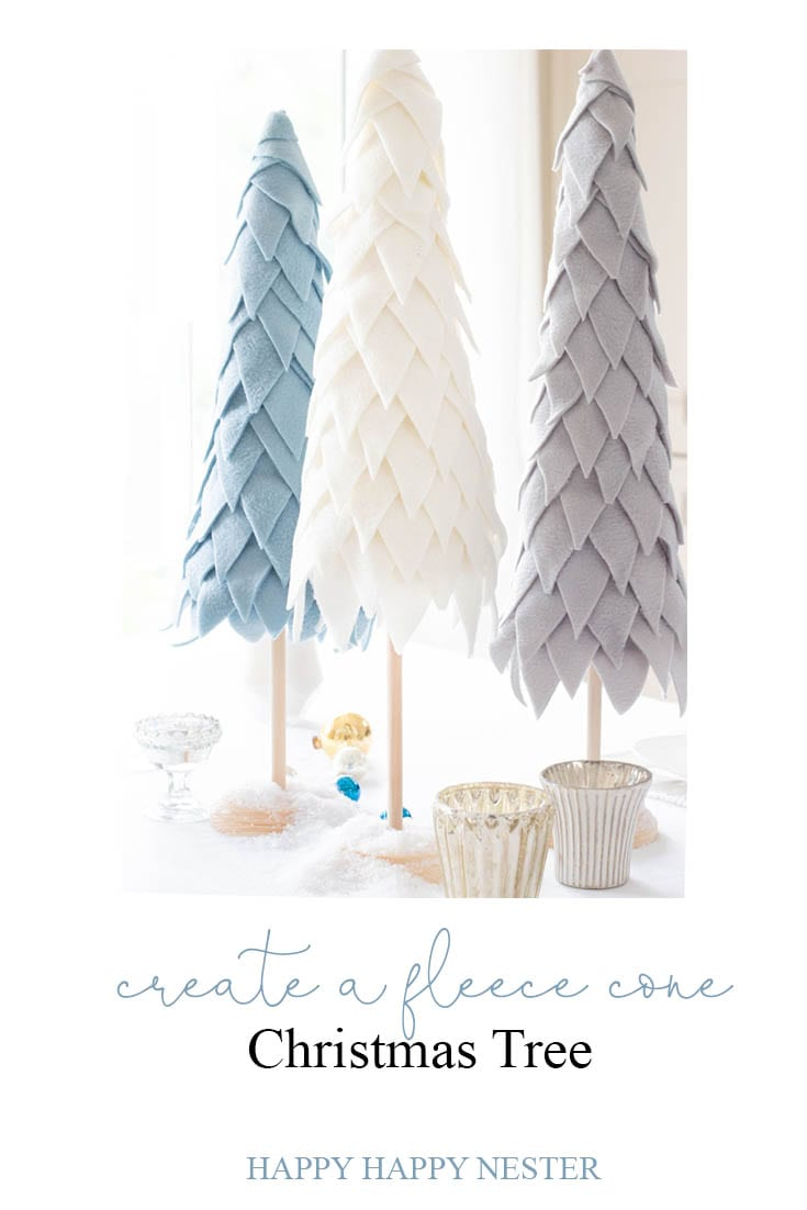 fleece cone Christmas tree diy