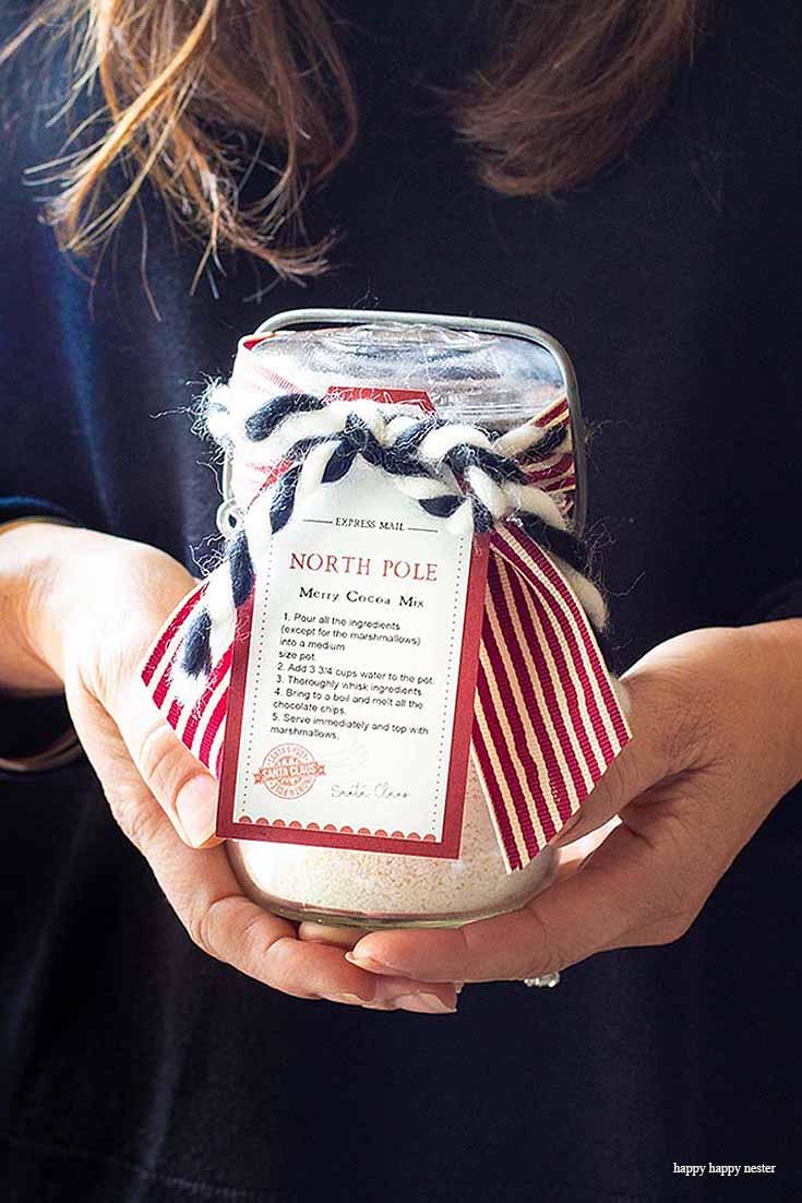 North Pole Galaxy Slime Jar Gift Card Holder Gift Tag Label