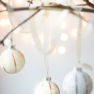 Easy Washi Tape Christmas Ornament DIY