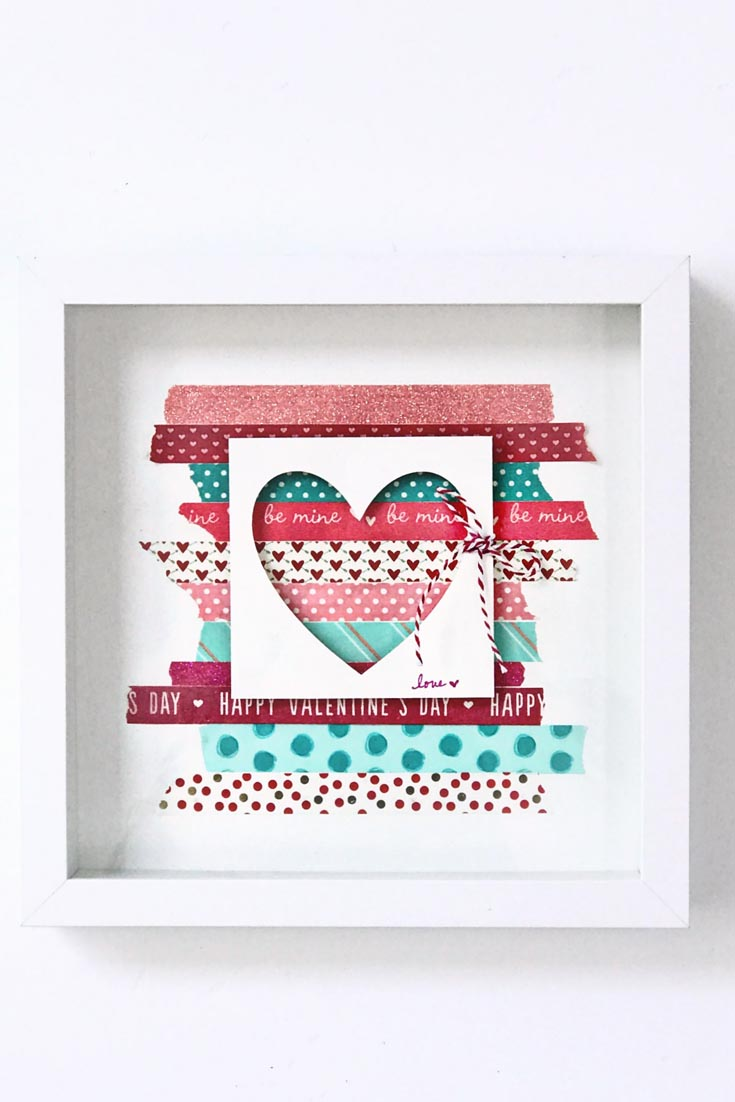 washi tape Valentine's Day Decor