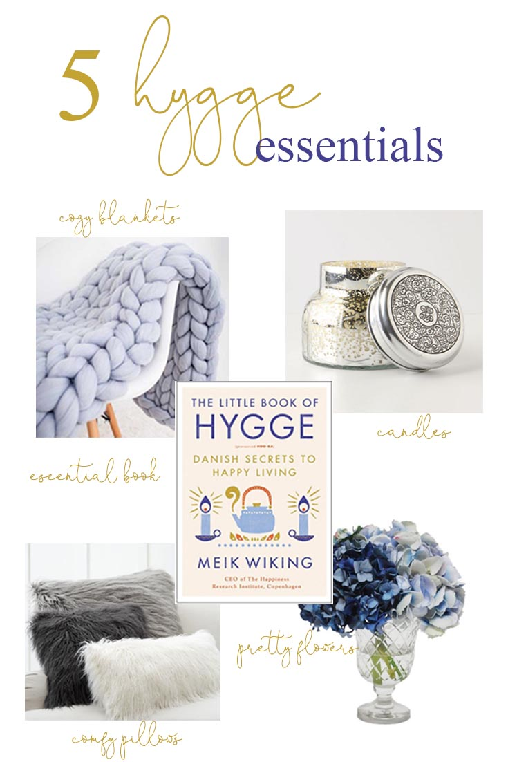 Shop the home decor on this Hygge post. Hygge Essentials For Your Home is super easy to add. Quickly create a wonderful cozy nest with just a few home decor touches. Add a few of these 5 basics things and you'll be so happy with your new space. #hygge #homedecor #decorating #hyggedecor #hyggehome