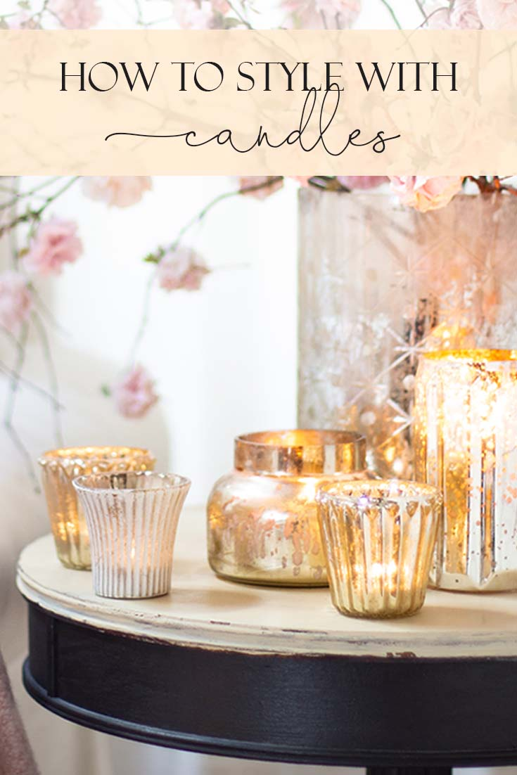 This year Add Hygge To Your Home with Candles. It is an easy way to warm up your home throughout the year. Embrace the cozy Danish concept of Hygge. I combined all my mercury glass candles to add that additional sparkle to the room. Hygge | Hygge Home | Candles | Decorating With Candles | Winter Candles | Mercury Glass
