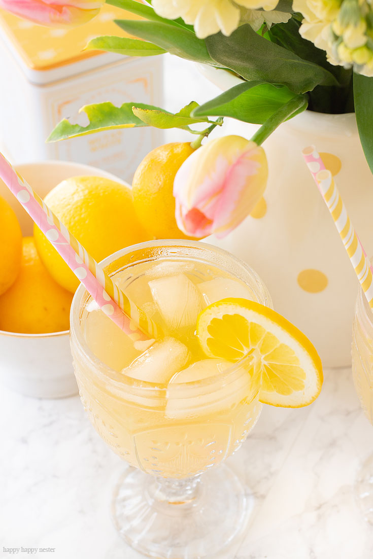 Carbonated Iced Tea Recipe. Here are 10 Non-Alcohol Summer Drinks that you'll love. Need some recipes this summer, well, we have you covered if you need slushies, teas, fruit drinks and more. These bloggers have tested them, and these are their favorites. #drinks #summerdrinks #cocktail #drinkrecipes #recipes #happyhour #weddings #weddingdrinks